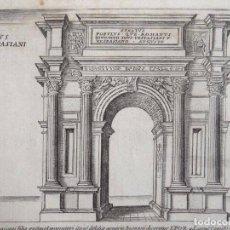 Arte: VISTA DEL ARCO DE EMPERADOR TITO (ROMA, ITALIA), 1613. GIACOMO LAURO/MASCARDI. Lote 123206959