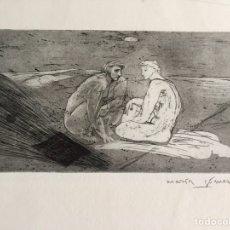 """Arte: """"IDILIO"""" CARPETA CON TRES GRABADO DE MARÍA GOMEZ DE 1988, EJEMPLARES 42/100. Lote 123420478"""