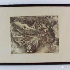 Arte: C- 693. GRABADO NUMERADO Y FIRMADO: SILVINO POZA. AÑO 1994.. Lote 123489495