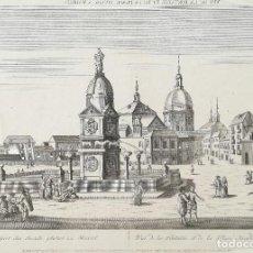 Arte: VISTA OPTICA GRAVADO MADRID - AÑO 1770 - ORIGINAL. Lote 123524919
