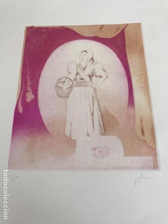 GRABADO DE RAMON PUJOL BOIRA FIRMADO Y NUMERADO A LÁPIZ 19/25. (Arte - Grabados - Contemporáneos siglo XX)
