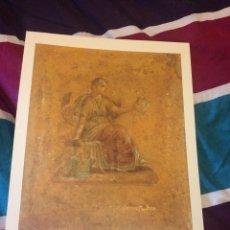 Arte: GRABADO DIOSA CLIO POMPEIA GRABADO AUTENTICO ORIGINAL DEL MUSEO LOUVRE 1.995. Lote 123566031