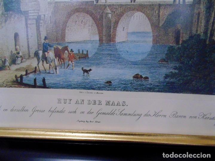 Arte: CUADRO CON GRABADO ANTIGUO - HUY AN DER MAAS.- DE Clarkson Stanfield .AÑO 1838. TAMAÑO 68X48 CMS - Foto 4 - 124036231