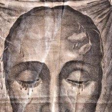 Arte: RELIGION,RELIQUIA SIGLOXIX,VELO DE LA VERONICA EN SEDA CRUDA,IMAGEN DE JESUS,JESUCRISTO,SABANA SANTA. Lote 124123027