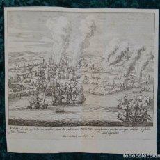 Arte: BATALLA DE RANDE EN VIGO II (GALICIA, ESPAÑA), 1730. PETER SCHENK. Lote 124276747