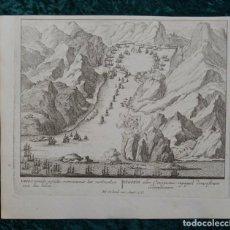 Arte: BATALLA DE RANDE EN VIGO III (GALICIA, ESPAÑA), 1730. PETER SCHENK. Lote 124277059