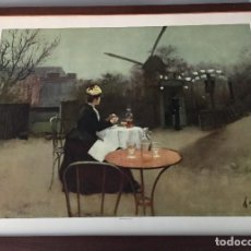 Arte: REPRODUCCIÓN DEL ÓLEO DE RAMON CASAS, 70X50 CMS. Lote 124389695