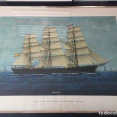 Arte: REPRODUCCIÓN DE LA ACUARELA DE JOSE PINEDA, 70X55 CMS. Lote 123602083