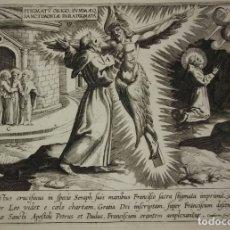 Arte: 1612 VITA SAN FRANCISCO 24 GRABADOS RELIGIOSOS AL ACERO JEAN LE CLERC 1612. Lote 113872835