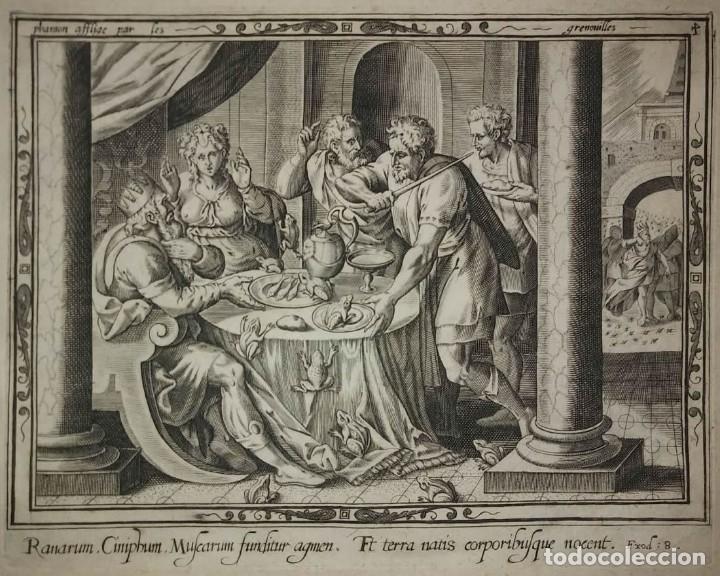 Arte: 8 Grabados EXODUS Jean Le Clerc 1611 Pasajes bíblicos. Judaica - Foto 8 - 114225371