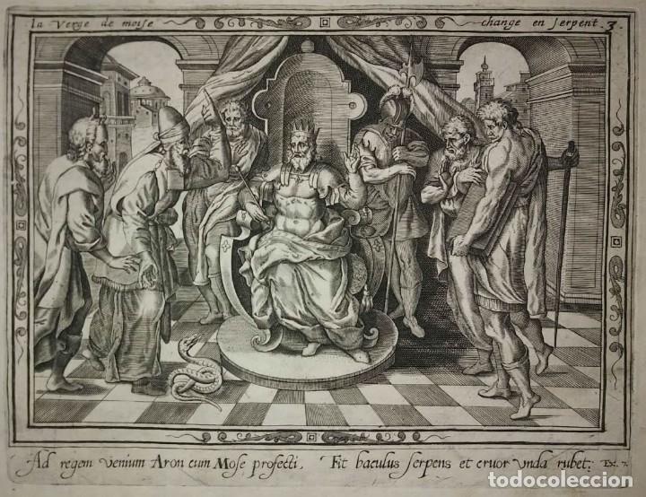Arte: 8 Grabados EXODUS Jean Le Clerc 1611 Pasajes bíblicos. Judaica - Foto 6 - 114225371