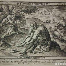 Arte: 8 GRABADOS EXODUS JEAN LE CLERC 1611 PASAJES BÍBLICOS. JUDAICA. Lote 114225371