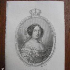 Arte: 1859 ISABEL II DIBUJADA POR MADRAZO Y GRABADA POR MARTINEZ. Lote 124536871