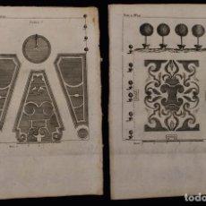 Arte: LOTE DE 17 GRABADOS DE 1772 · JARDÍN FRANCÉS BARROCO · PAISAJISMO · JARDINES. Lote 124915591