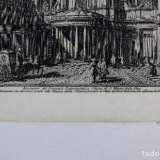 Arte: *LA-10 GRABADO ITALIANO . SIGLO XIX. IGLESIA DE SANTA MARIA DELLA PACE. ROMA.. Lote 125284295