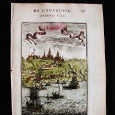 Arte: VISTA DE LA CIUDAD DE QUEBEC (CANADÁ, AMÉRICA DEL NORTE), 1683. MALLET. Lote 125312127