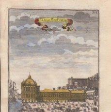 Arte: VISTA DEL PALACIO REAL EN LISBOA (PORTUGAL, PORTUGAL), 1683. MALLET. Lote 125313251
