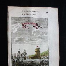 Arte: VISTA DE LA TORRE DE BELEM (LISBOA, PORTUGAL), 1683. MALLET. Lote 125313575