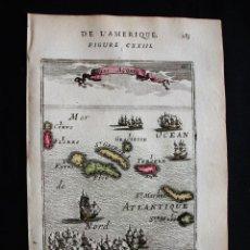 Arte: VISTA DE LAS ISLAS AZORES (PORTUGAL), 1683. MALLET. Lote 125314579