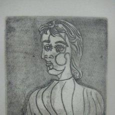 Arte: PABLO PICASSO GRABADO ORIGINAL PRUEBA DE ARTISTA Y FIRMADO A LAPIZ, DORA MAAR 1937, 27 X 23 CMS. Lote 125090967