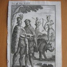 Arte: HABITANTES DE LA PLATA, PARAGUAY, TUCUMAN, 1710. DE LA CROIX/ OGIER. Lote 125858127