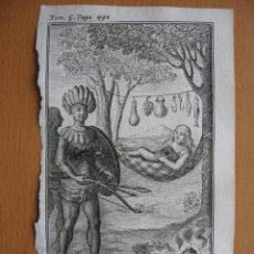 Arte: HABITANTES DE AMAZONAS (BRASIL), 1710. DE LA CROIX/ OGIER. Lote 125858399