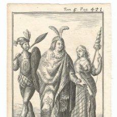 Arte: HABITANTES DE PERÚ ( AMÉRICA DEL SUR ), 1710. DE LA CROIX/ OGIER. Lote 125858655