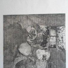 "Arte: ERICE (GONZALO SEBASTIÁN DE ERICE, MURCIA-INDIA 1940) GRAB 1973 ""GOURMET"" CATALOGADO 34X34 EN 46X62 . Lote 125893643"