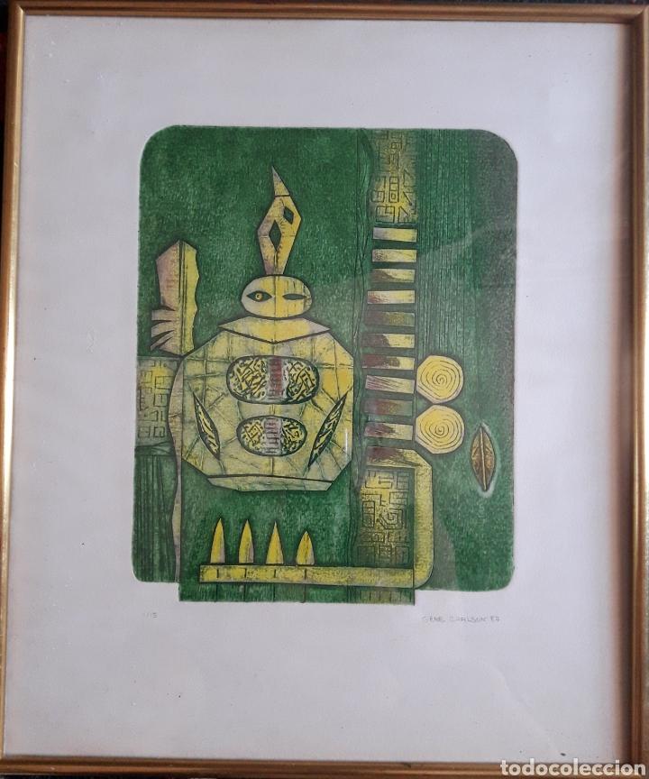 GENE CARLSON. GRABADO NUMERADO FIRMADO Y FECHADO. (Arte - Grabados - Contemporáneos siglo XX)
