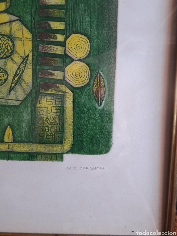 Arte: Gene Carlson. Grabado numerado firmado y fechado. - Foto 2 - 125902448