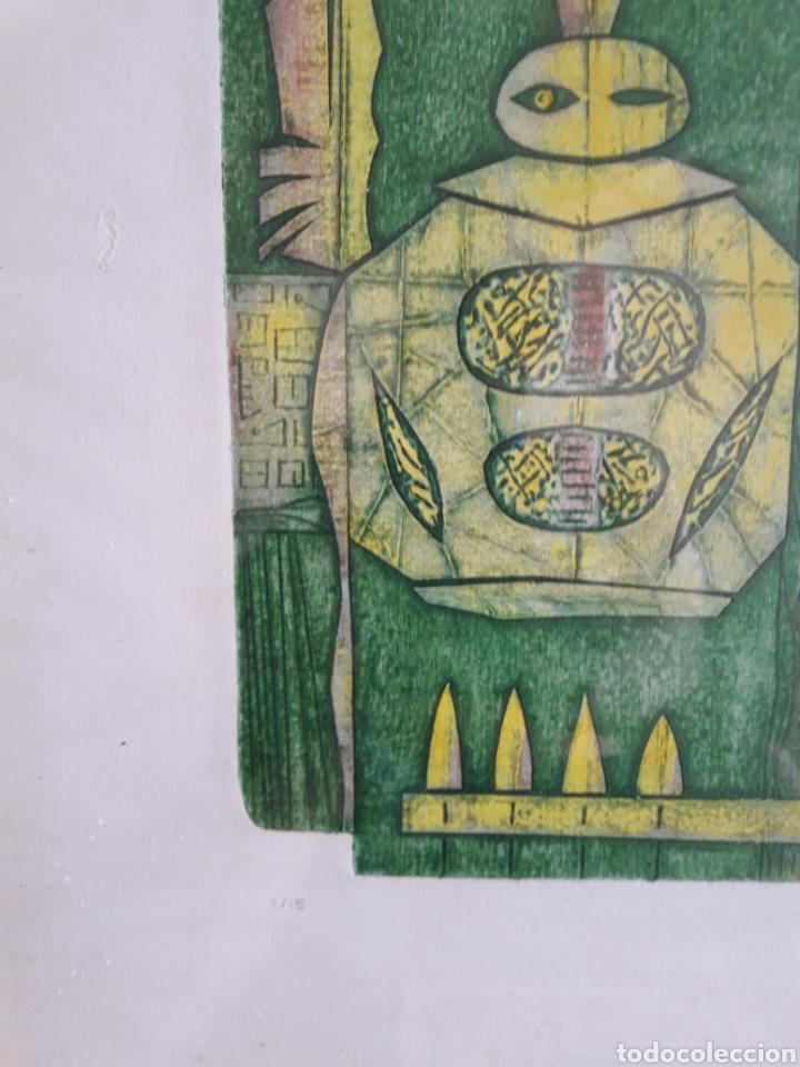 Arte: Gene Carlson. Grabado numerado firmado y fechado. - Foto 3 - 125902448