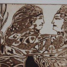 Arte: FJ CASTILLO MÁLAGA 1961GRABADO AGUAFUERTE Y AGUATINTA DE 12X16 PAPEL 30X20, PE1. AMISTAD.. Lote 125911791
