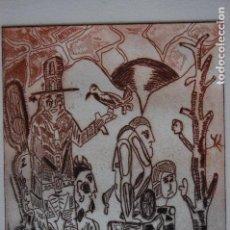 Arte: FJ CASTILLO MÁLAGA 1961GRABADO AGUAFUERTE Y AGUATINTA DE 12X16 PAPEL 32X21, PA. VAQUEROII.. Lote 125912131