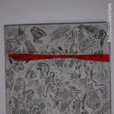 Arte: FJ CASTILLO MÁLAGA 1961GRABADO AGUAFUERTE Y COLLAGE DE 12X16 PAPEL 30X40, PA.GENTE CUALQUIER LUGAR.. Lote 125912411