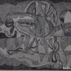 Arte: FJ CASTILLO MÁLAGA 1961GRABADO AGUAFUERTE Y AGUATINTA DE 24X16 PAPEL 38X38, PA . BODEGÓN.. Lote 125913567