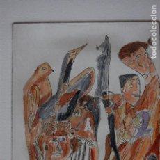 Arte: FJ CASTILLO MÁLAGA 1961GRABADO AGUAFUERTE DE 12X16 PAPEL 20X30, PILUMINADA. LA MATERNIDAD.. Lote 125913795