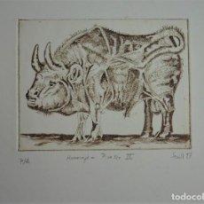 Arte: ELEGANTE PUNTA SECA HOMENAJE A PICASSO DE SECALL (CARLOS ESTEVE) 22 X 29 CM. Lote 125922347