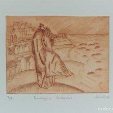 Arte: HOMENAJE A LABOUREUR - PUNTA SECA SOBRE COBRE DE SECALL (CARLOS ESTEVE) 20 X 29 CM - P/A. Lote 125923255