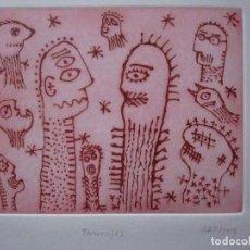 Arte: PERSONAJES - COLORISTA AGUAFUERTE DE GUILLERMO ANTÓN PARDO - GAP DE 29,5 X 39,5 CM - P/A. Lote 125924039