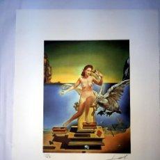 Arte: IMPRESIONANTE GRABADO DE DALI, LEDA ATÓMICA,FIRMADO Y NUMERADO,50 X 65 CM. Lote 126042959