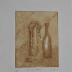 Arte: HOMENAJE A MORANDI - PUNTA SECA SOBRE COBRE DE SECALL (CARLOS ESTEVE) 22 X 29 CM - P/A. Lote 126061743