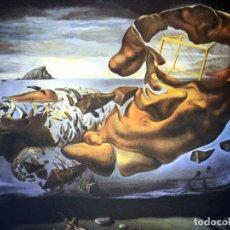 Arte: IMPRESIONANTE GRABADO DE DALI,FIGURA RINOCERÓNTICA DEL ILISOS DE...,FIRMADO Y NUMERADO , 50 X 65 CM. Lote 126086799
