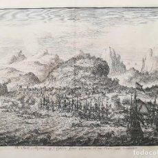 Arte: GRABADO BATALLA CANARIAS 1599 - GRABADO ORIGINAL PUBLICADO EN 1651. Lote 126096423