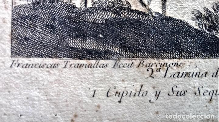 Arte: GRABADO ORIGINAL,SIG.XVIII,AÑO 1764, REY CARLOS III EN BARCELONA,MASCARA REAL,DE FRANCISCO TRAMULLAS - Foto 7 - 126116827