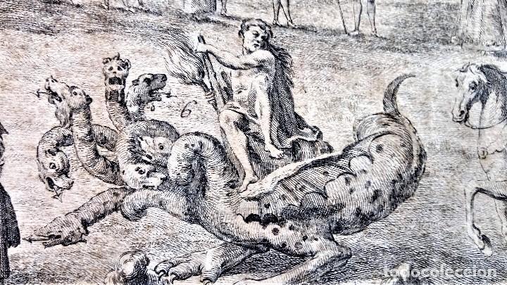 Arte: GRABADO ORIGINAL,SIG.XVIII,AÑO 1764, REY CARLOS III EN BARCELONA,MASCARA REAL,DE FRANCISCO TRAMULLAS - Foto 8 - 126116827