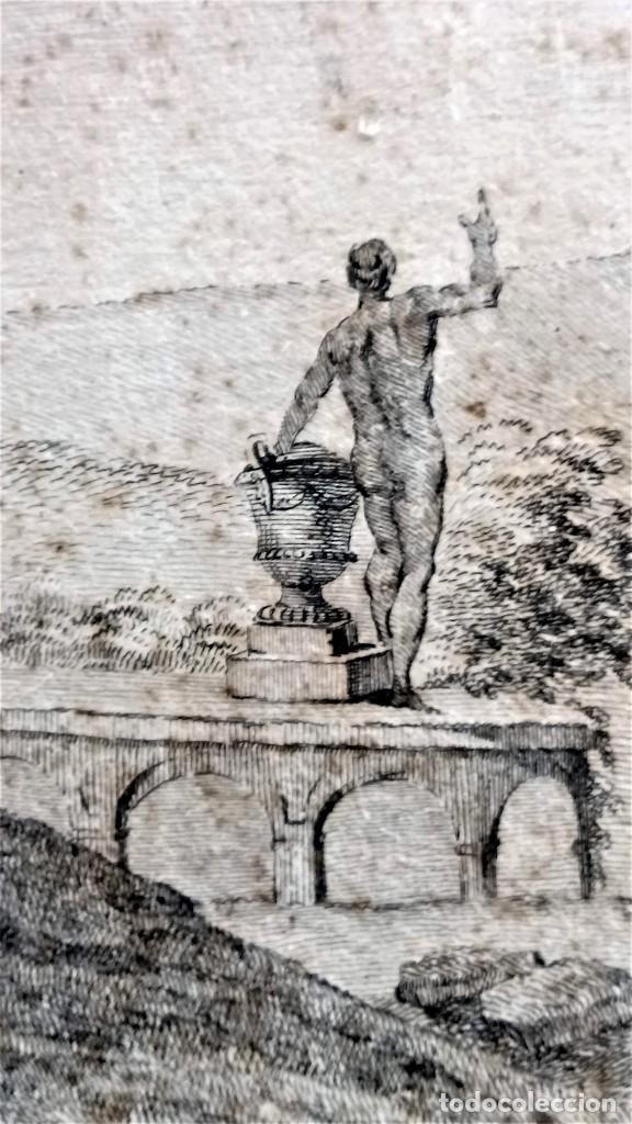 Arte: GRABADO ORIGINAL,SIG.XVIII,AÑO 1764, REY CARLOS III EN BARCELONA,MASCARA REAL,DE FRANCISCO TRAMULLAS - Foto 12 - 126116827