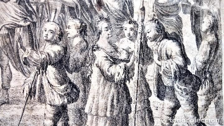 Arte: GRABADO ORIGINAL,SIG.XVIII,AÑO 1764, REY CARLOS III EN BARCELONA,MASCARA REAL,DE FRANCISCO TRAMULLAS - Foto 16 - 126116827