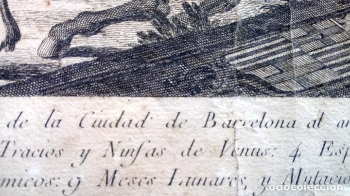 Arte: GRABADO ORIGINAL,SIG.XVIII,AÑO 1764, REY CARLOS III EN BARCELONA,MASCARA REAL,DE FRANCISCO TRAMULLAS - Foto 18 - 126116827