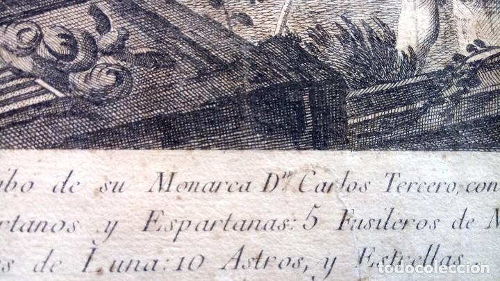 Arte: GRABADO ORIGINAL,SIG.XVIII,AÑO 1764, REY CARLOS III EN BARCELONA,MASCARA REAL,DE FRANCISCO TRAMULLAS - Foto 19 - 126116827