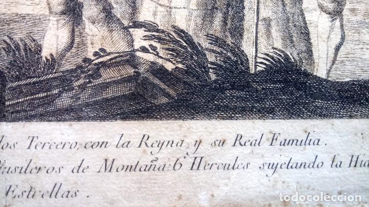 Arte: GRABADO ORIGINAL,SIG.XVIII,AÑO 1764, REY CARLOS III EN BARCELONA,MASCARA REAL,DE FRANCISCO TRAMULLAS - Foto 20 - 126116827